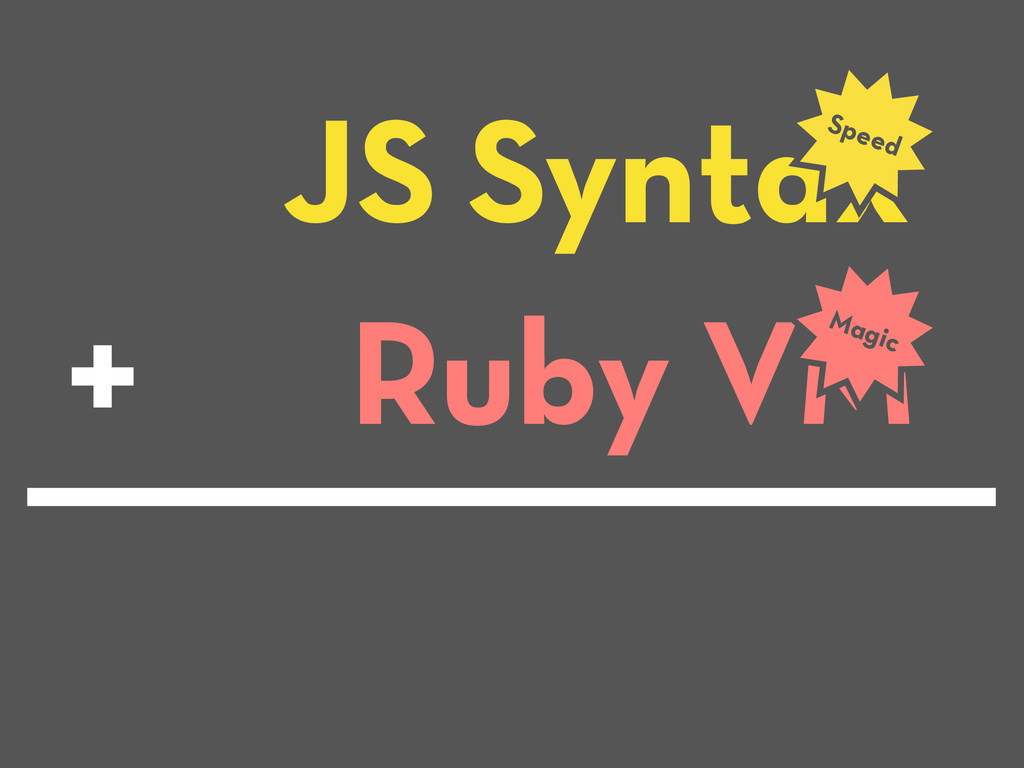 JS Syntax Speed Ruby VM Magic +