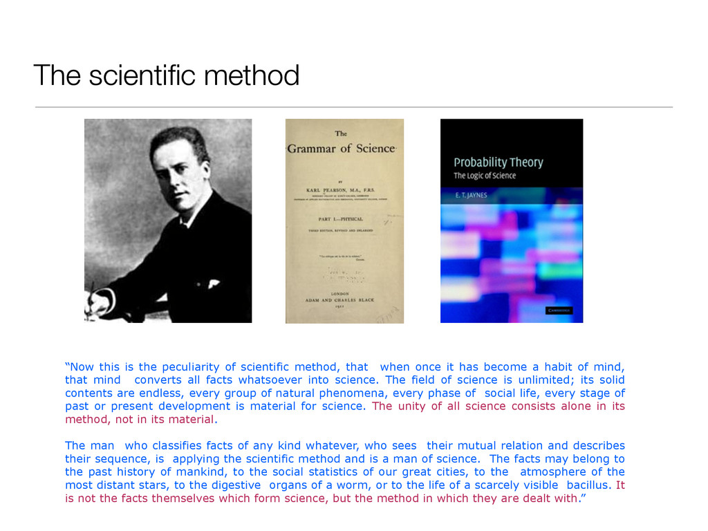 "The scientific method ""Now this is the peculiari..."