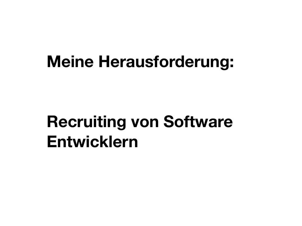 Meine Herausforderung: Recruiting von Software ...