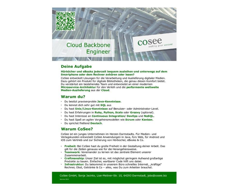 Deine Aufgabe CoSee GmbH, Sonja Jacinto, Lise-M...