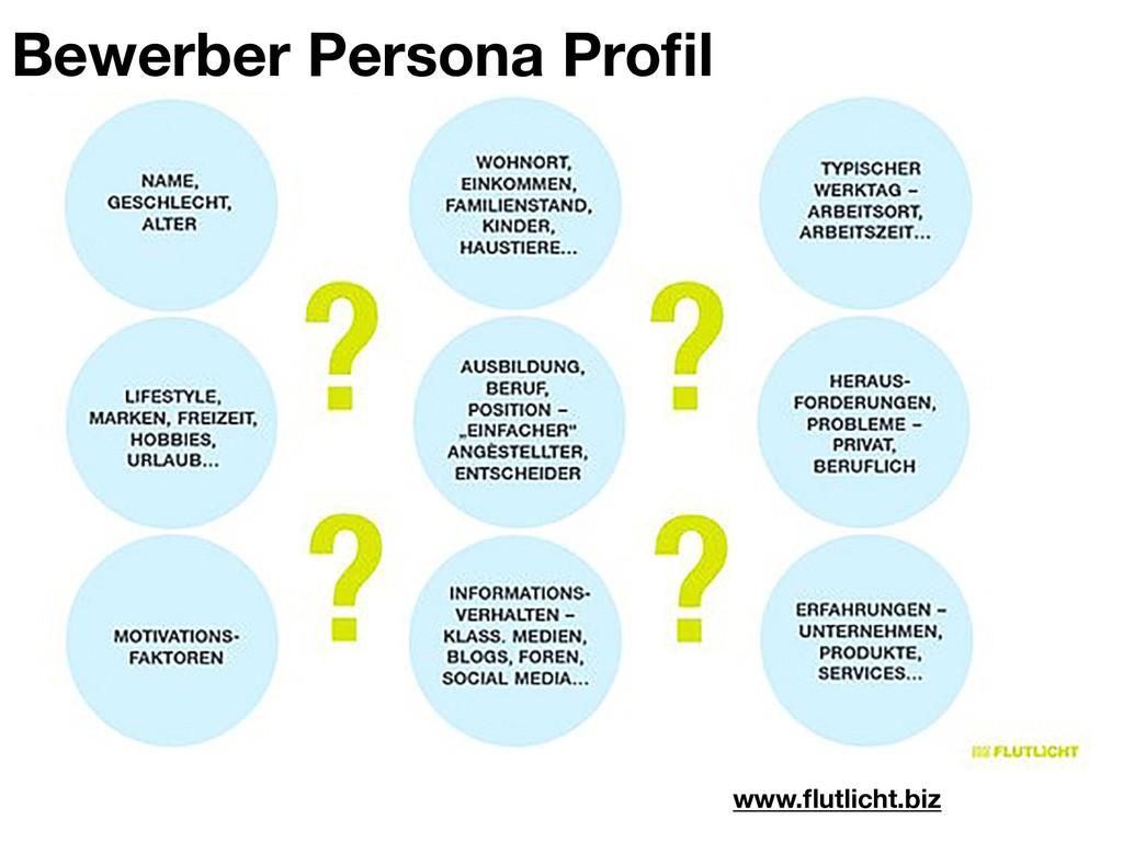 www.flutlicht.biz Bewerber Persona Profil