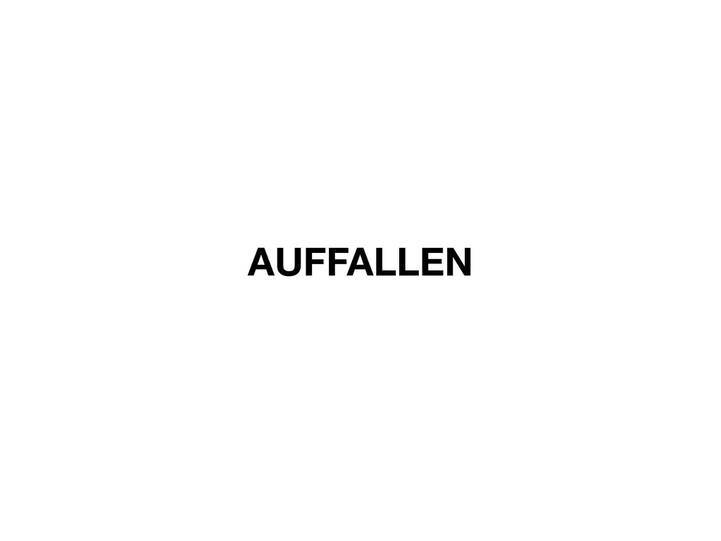 AUFFALLEN
