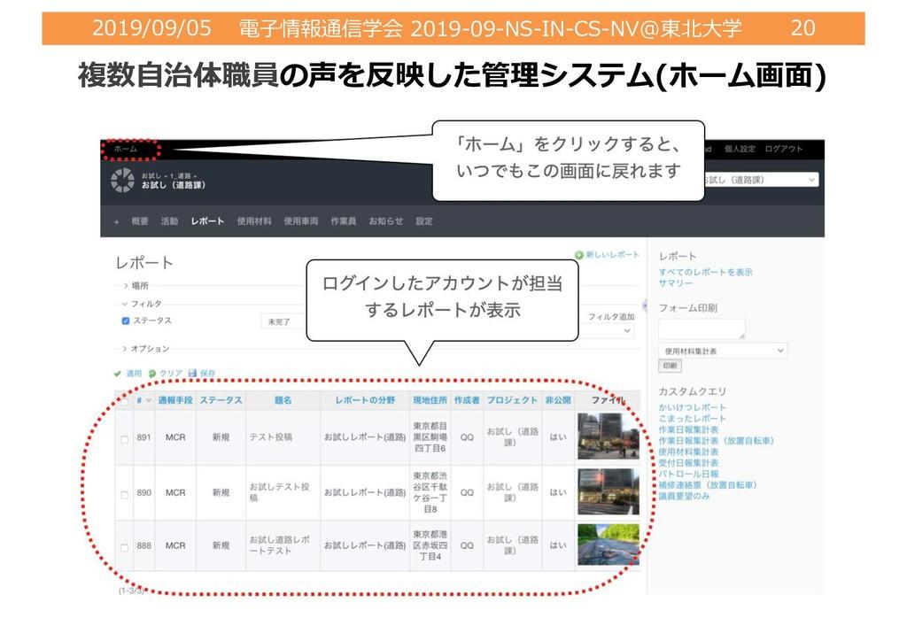 2019/09/05 電⼦情報通信学会 2019-09-NS-IN-CS-NV@東北⼤学 20...