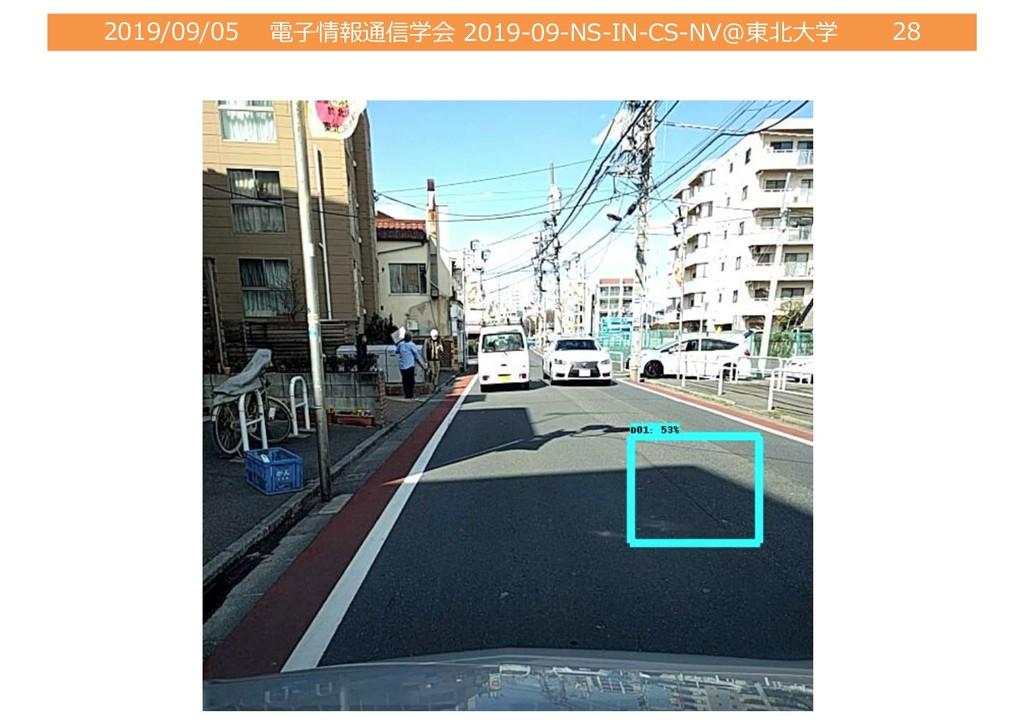 2019/09/05 電⼦情報通信学会 2019-09-NS-IN-CS-NV@東北⼤学 28