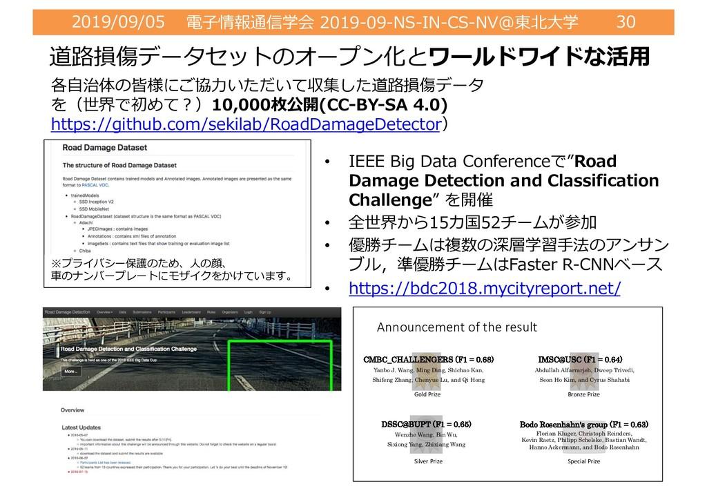 2019/09/05 電⼦情報通信学会 2019-09-NS-IN-CS-NV@東北⼤学 30...