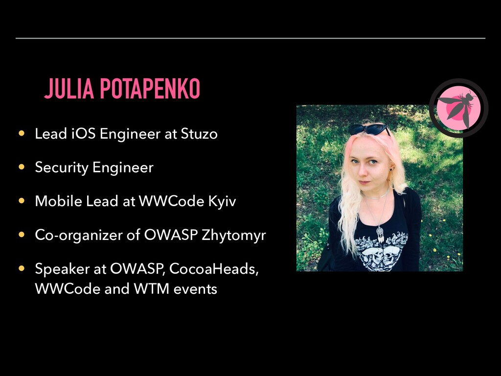 JULIA POTAPENKO • Lead iOS Engineer at Stuzo • ...