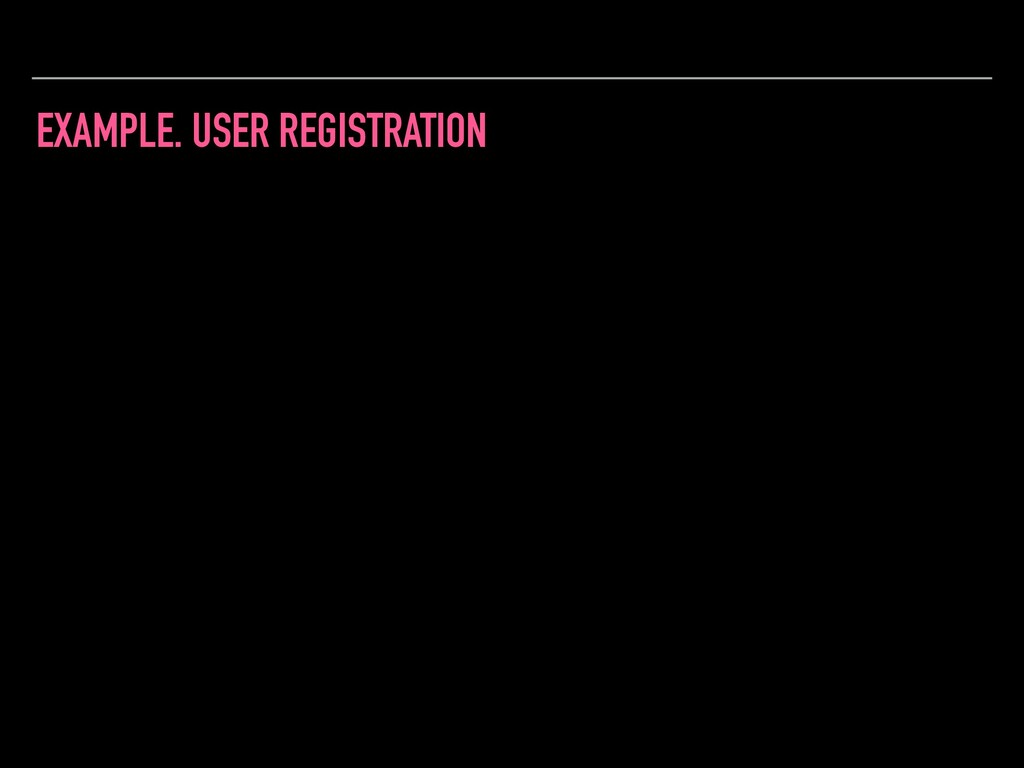 EXAMPLE. USER REGISTRATION