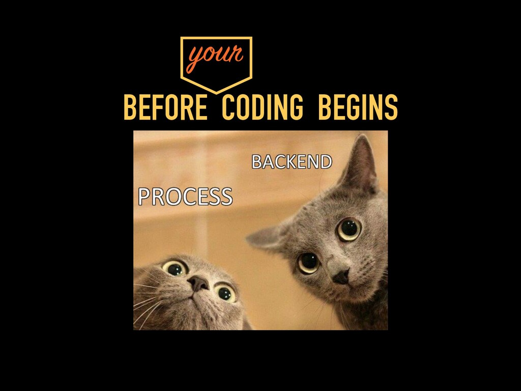 BEFORE CODING BEGINS your