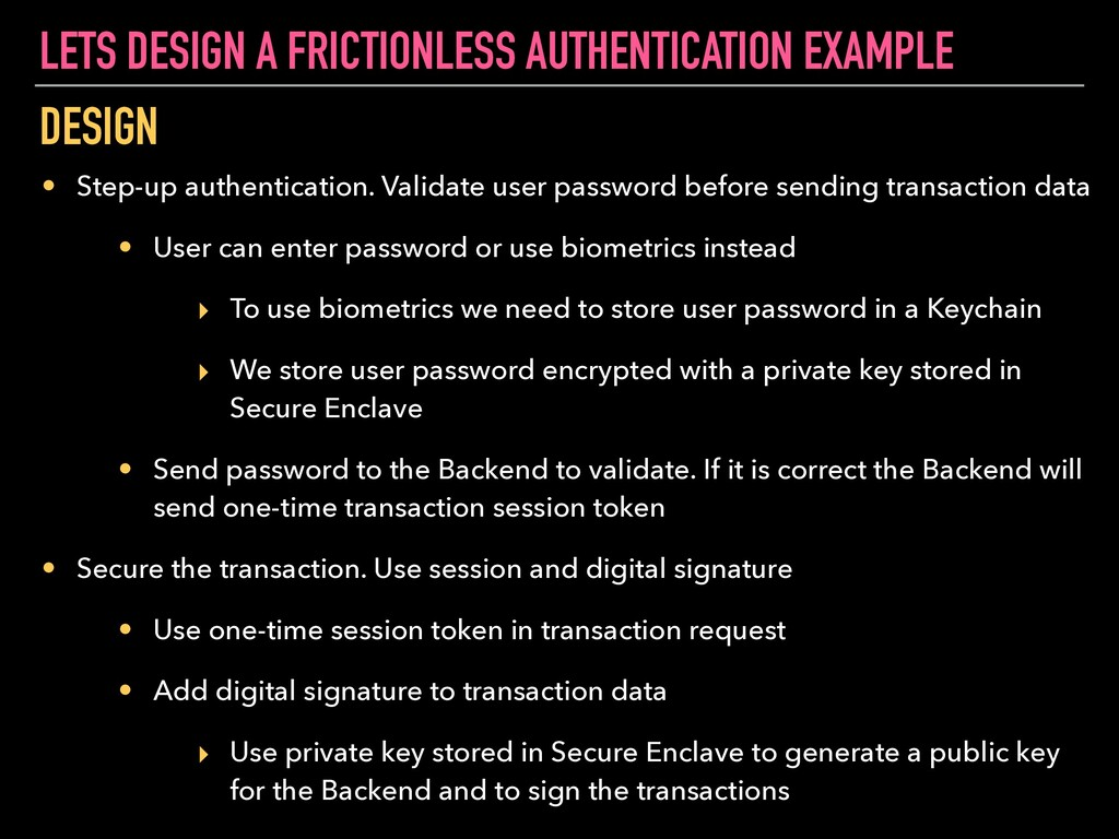 LETS DESIGN A FRICTIONLESS AUTHENTICATION EXAMP...