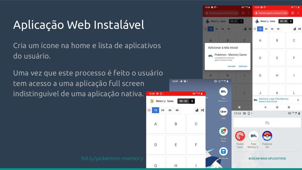 Aplicação Web Instalável Cria um ícone na home ...