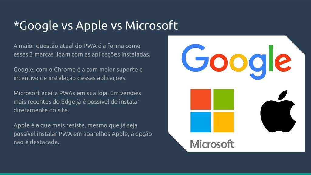 *Google vs Apple vs Microsoft A maior questão a...