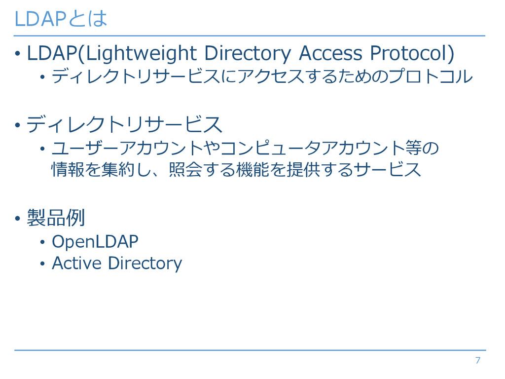 LDAPとは • LDAP(Lightweight Directory Access Prot...