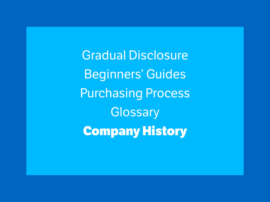 Gradual Disclosure Beginners' Guides Purchasing...