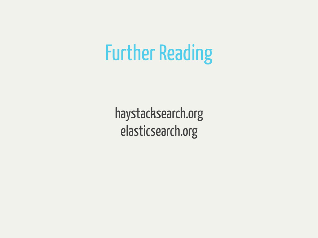 haystacksearch.org elasticsearch.org Further Re...