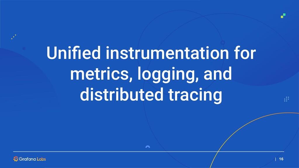   16 Unified instrumentation for metrics, loggin...