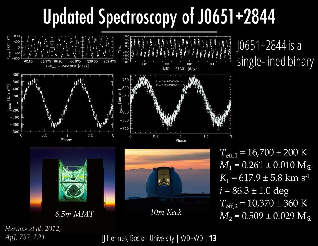 Hermes et al. 2012, ApJ, 757, L21 T eff,1 = 16,...