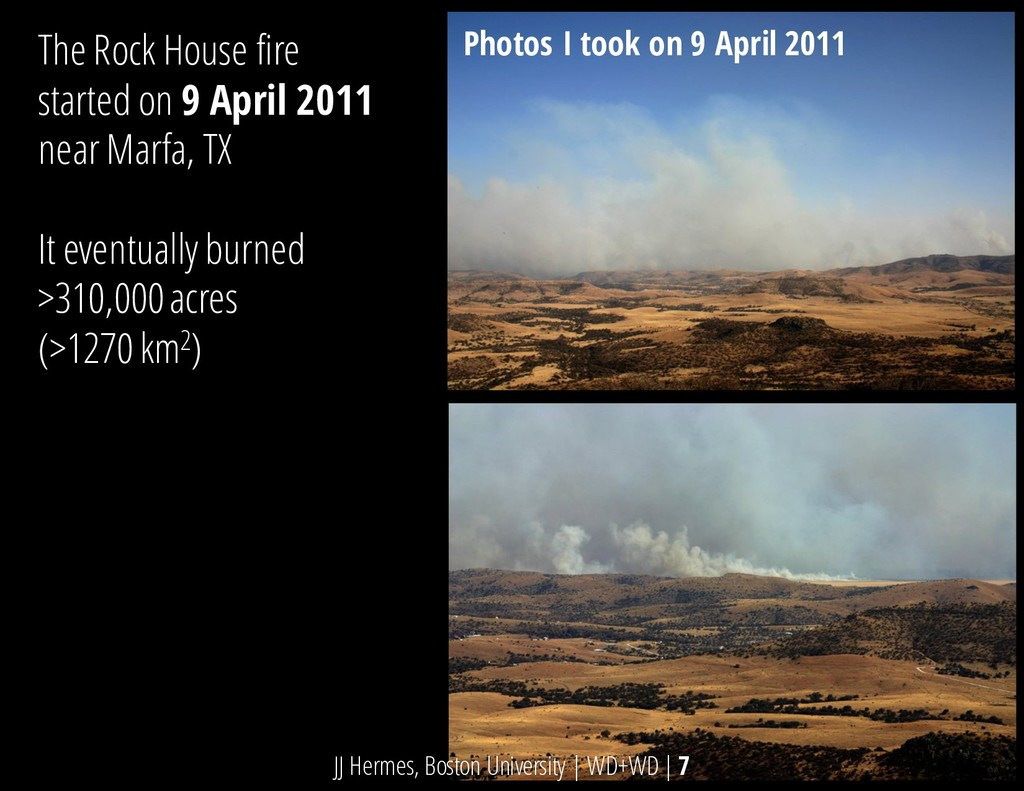 The Rock House fire started on 9 April 2011 nea...