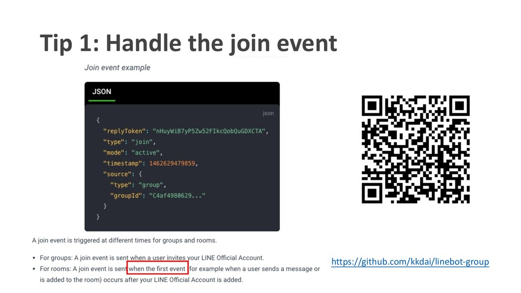 Tip 1: Handle the join event https://github.com...