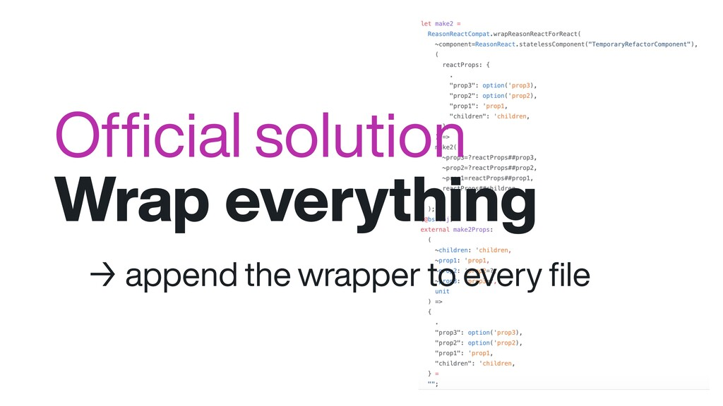 Official solution Wrap everything → append the w...