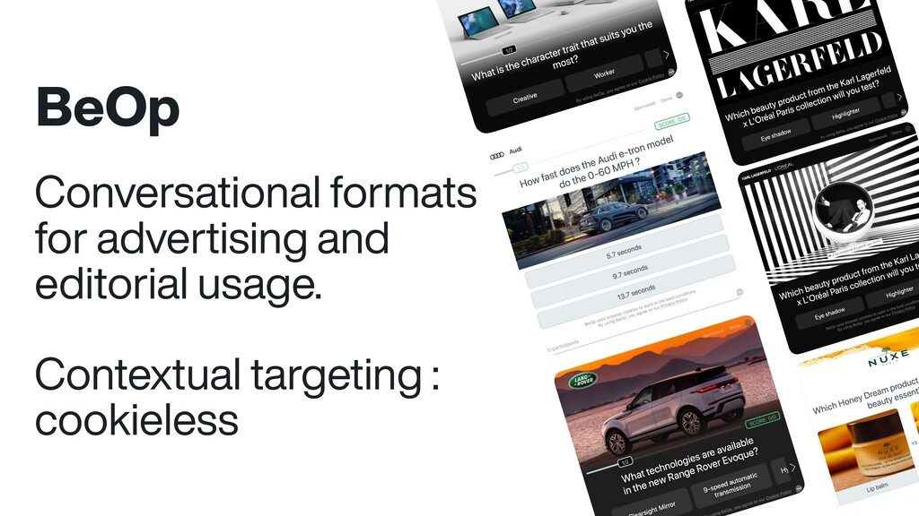 BeOp Conversational formats for advertising and...