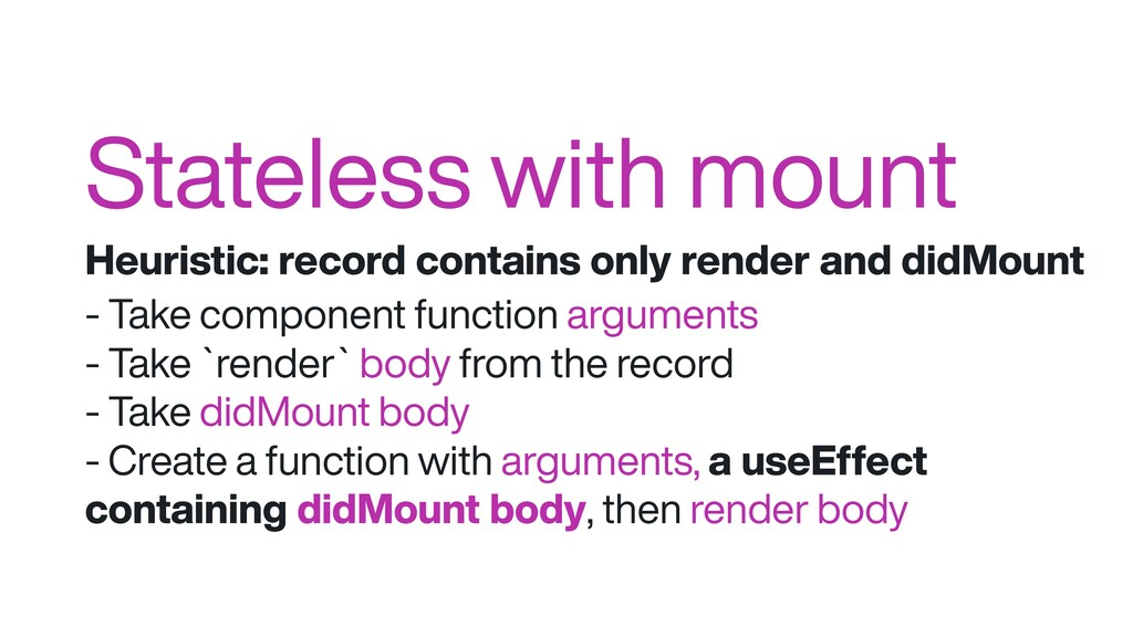 Stateless with mount Heuristic: record contains...