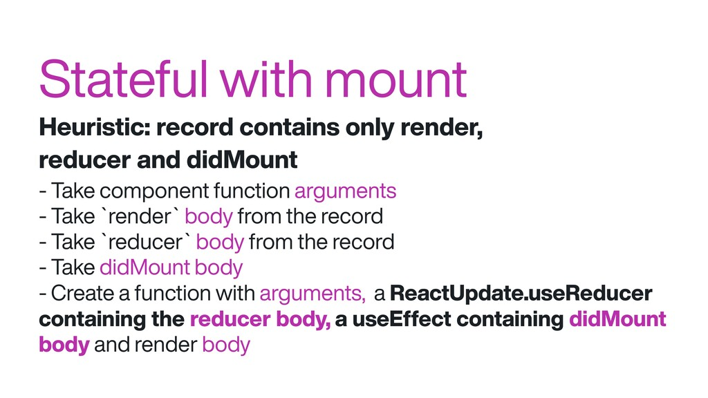 Stateful with mount Heuristic: record contains ...