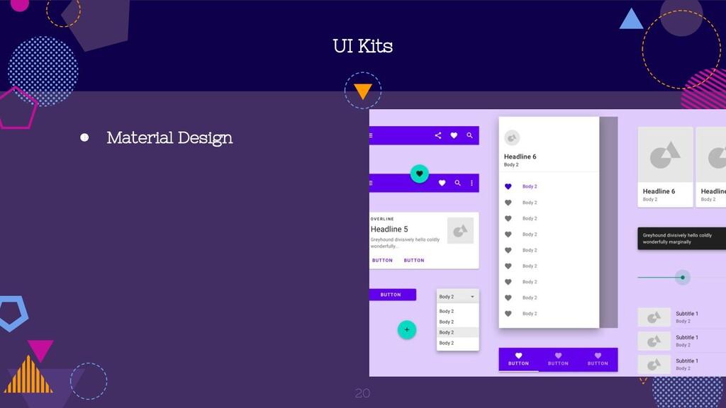 UI Kits ◍ Material Design 20
