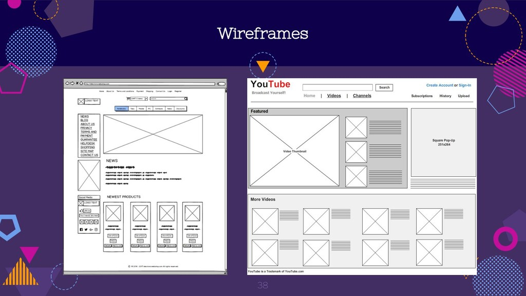 Wireframes 38
