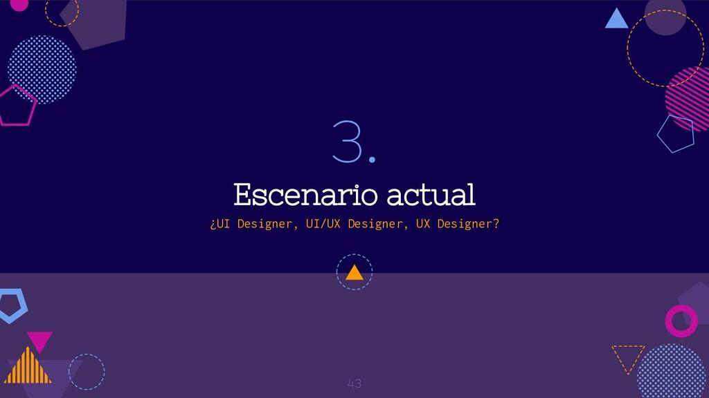 3. Escenario actual ¿UI Designer, UI/UX Designe...