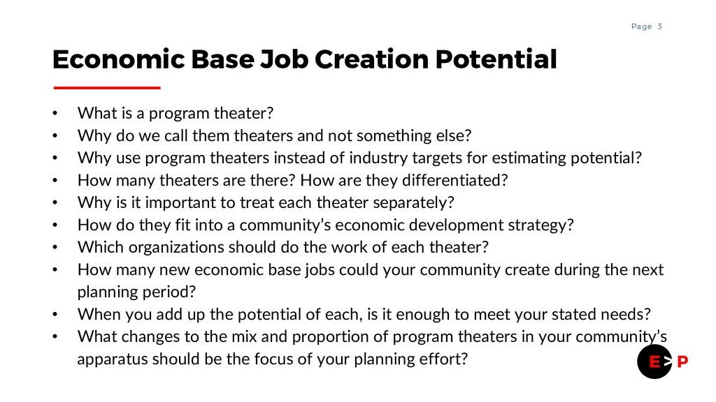 3 Page • What is a program theater? • Why do we...
