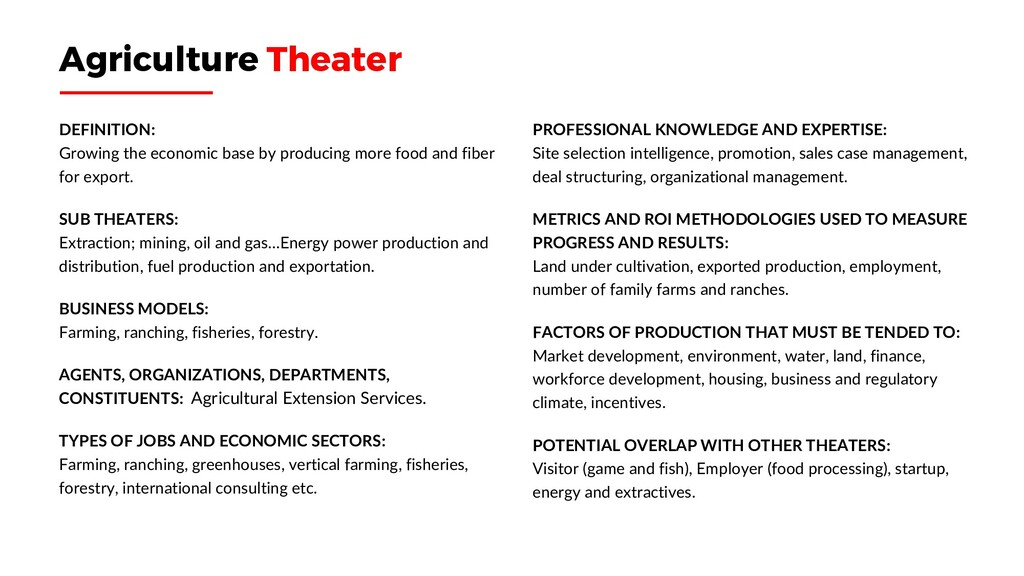 Agriculture Theater DEFINITION: Growing the eco...