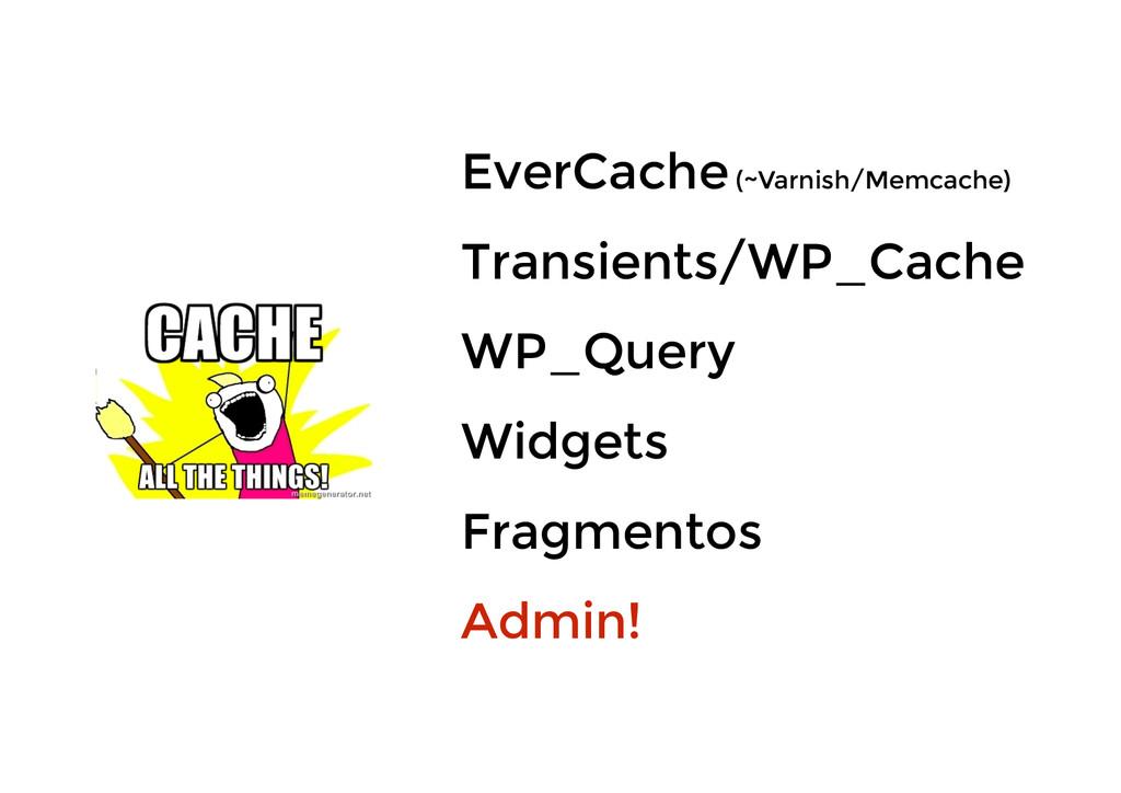 EverCache (~Varnish/Memcache) Transients/WP_Cac...