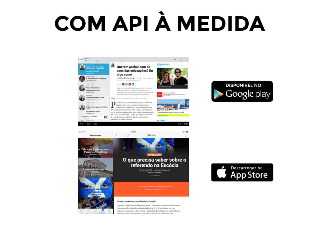 COM API À MEDIDA
