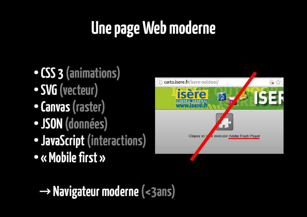 Une page Web moderne ● CSS 3 (animations) ● SVG...