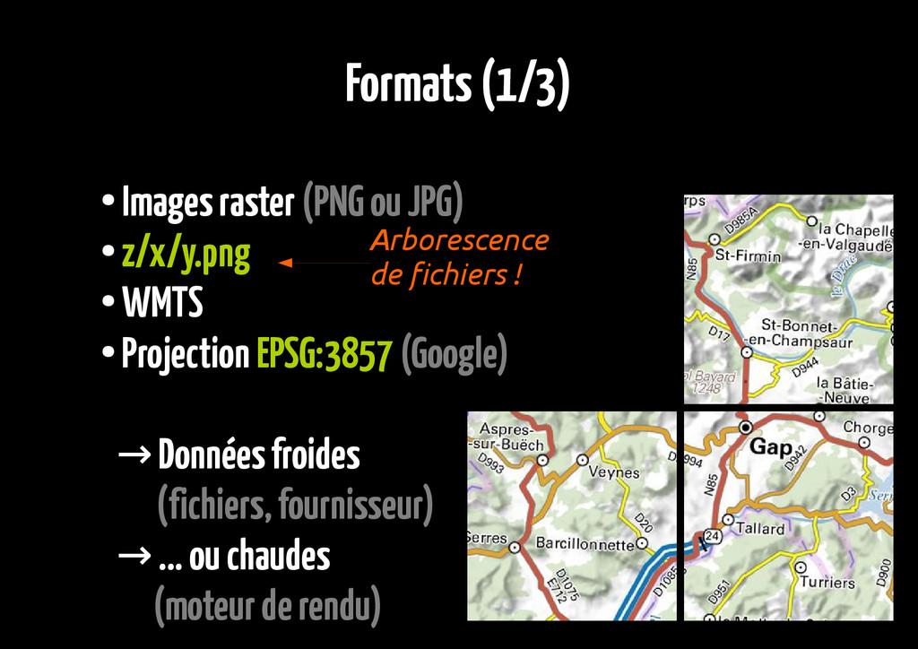Formats (1/3) ● Images raster (PNG ou JPG) ● z/...