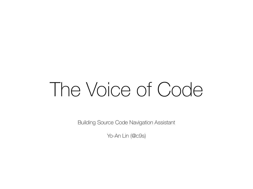 The Voice of Code Building Source Code Navigati...