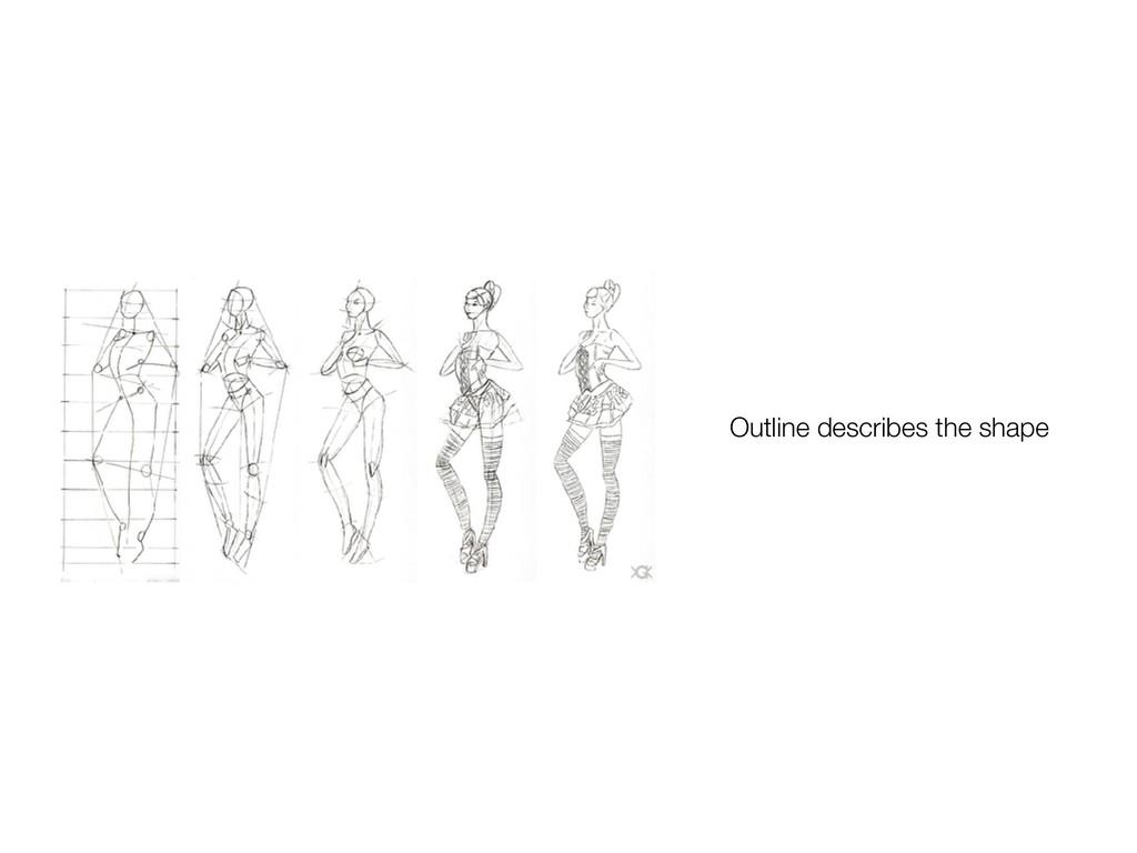 Outline describes the shape