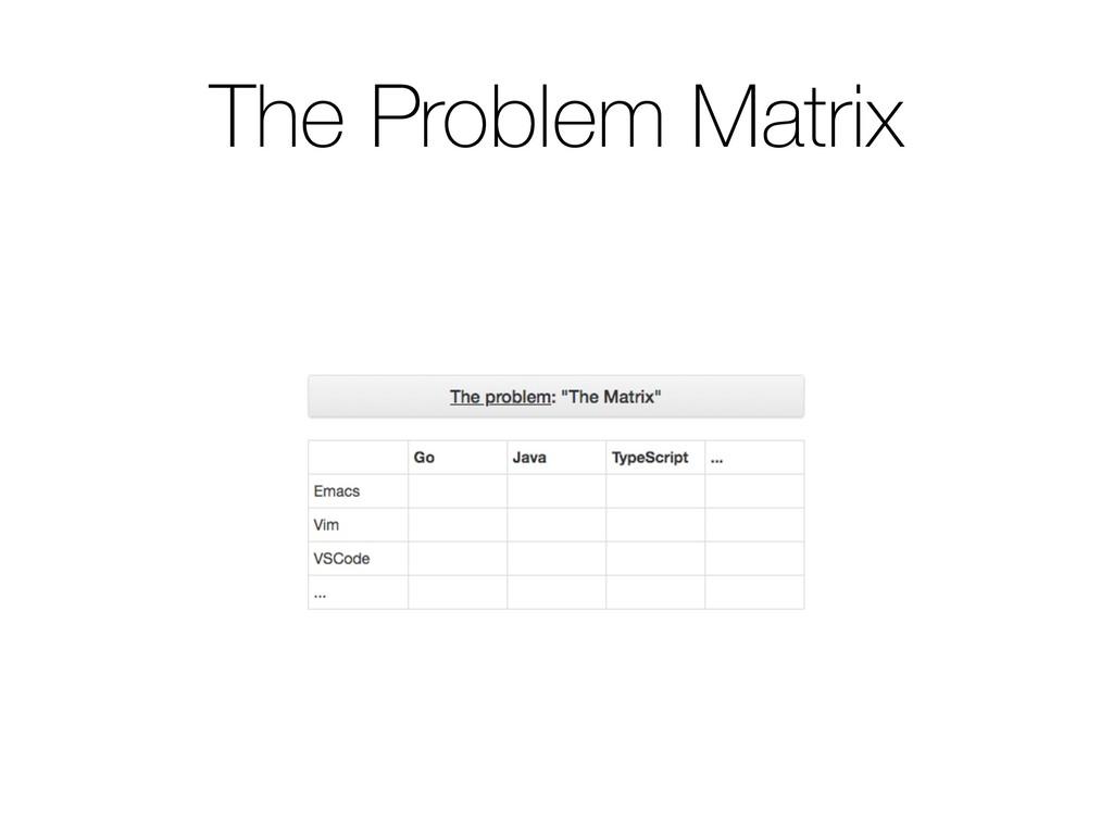 The Problem Matrix