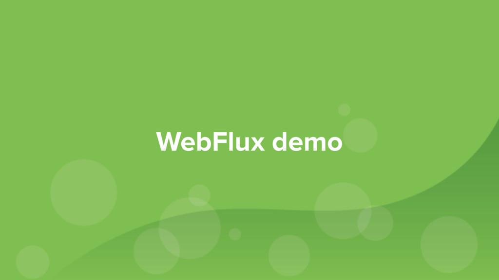 WebFlux demo