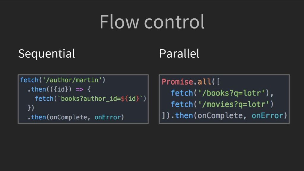 Flow control Sequential Parallel