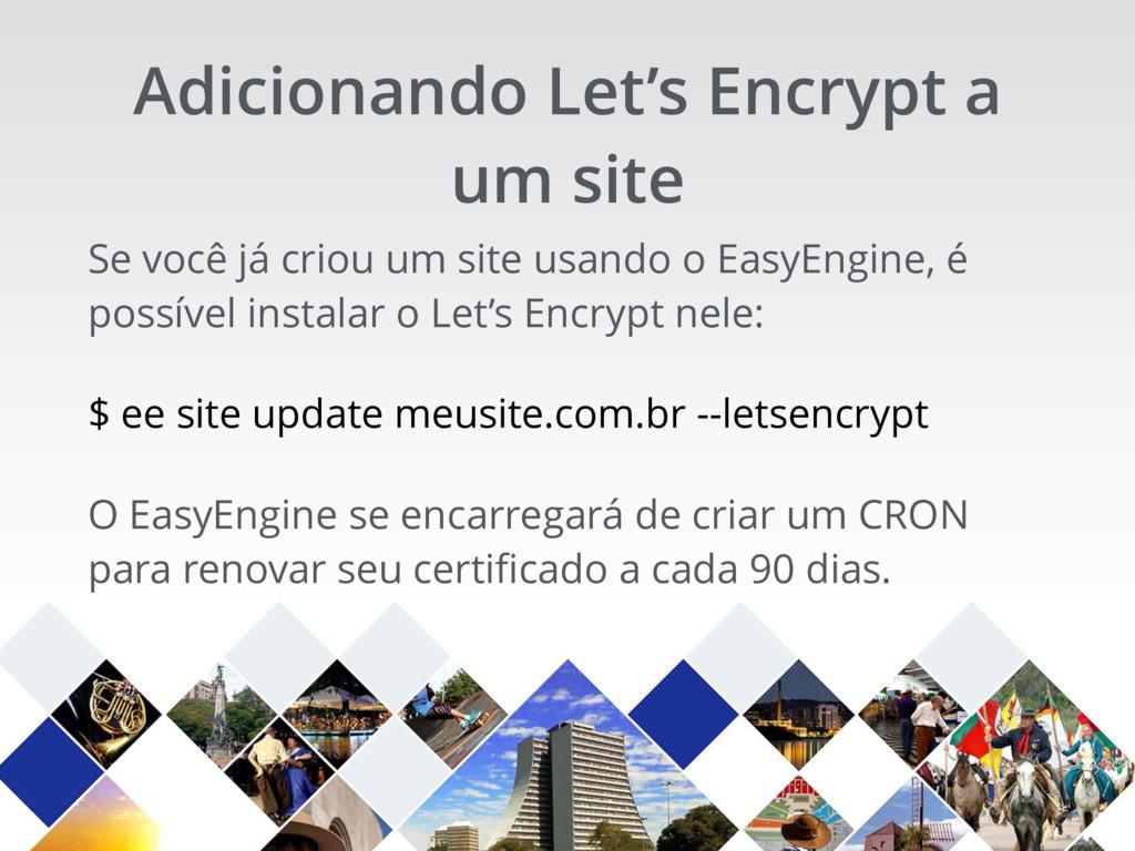 Se você já criou um site usando o EasyEngine, é...