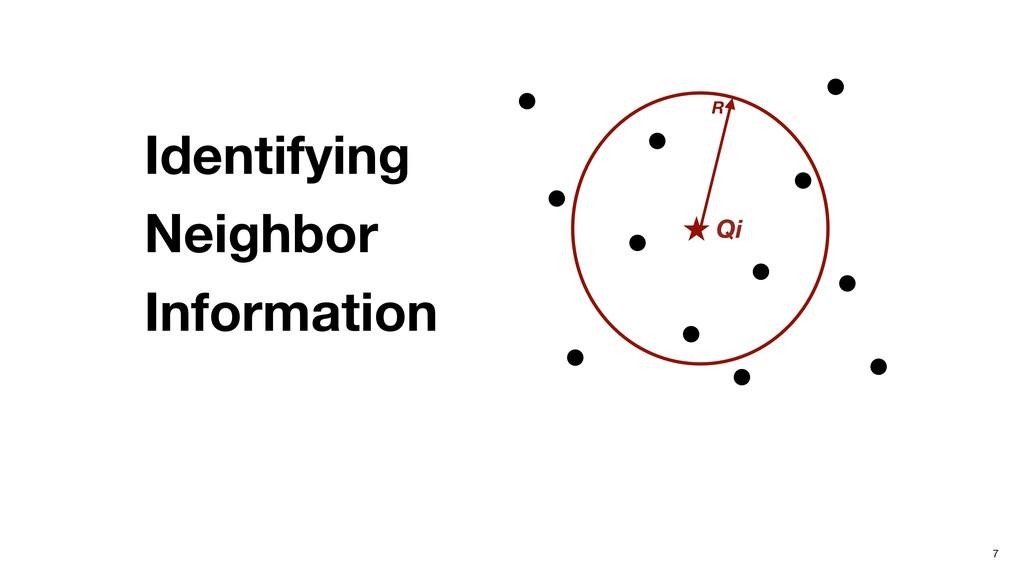 7 Identifying  Neighbor  Information Qi R