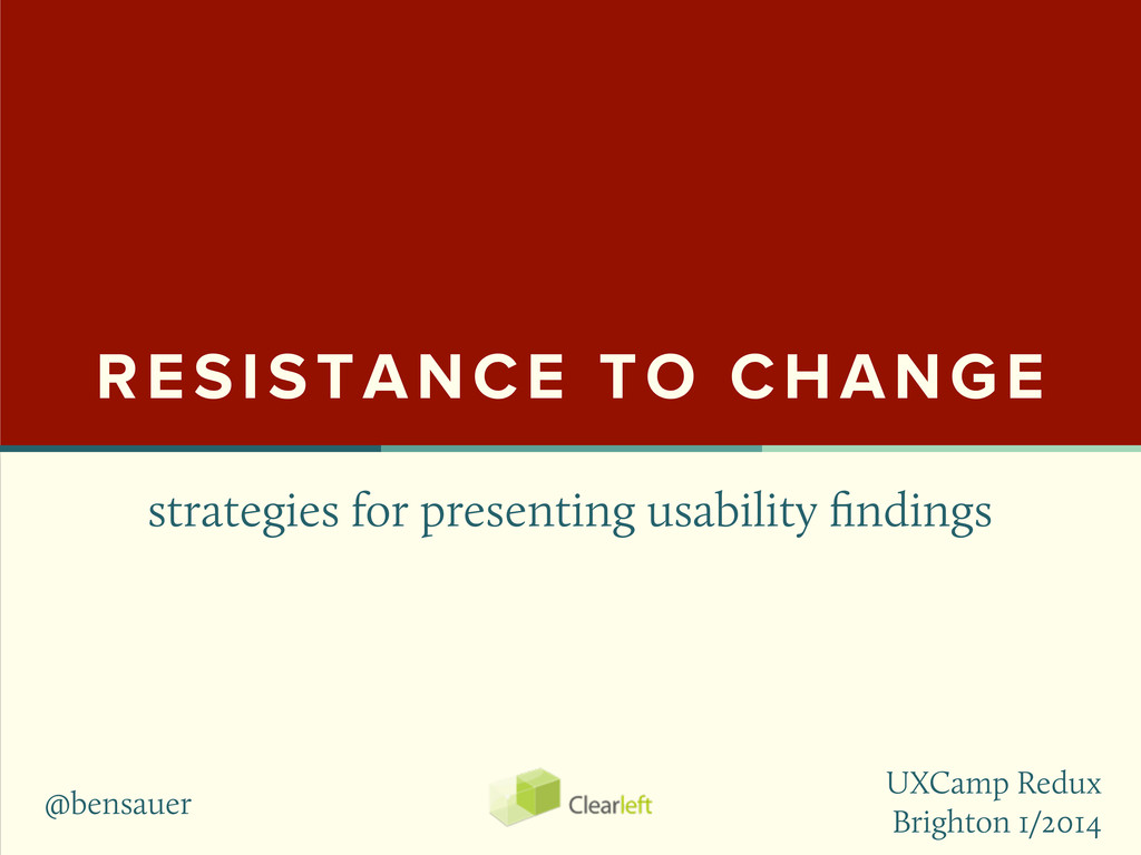 strategies for presenting usability findings RES...