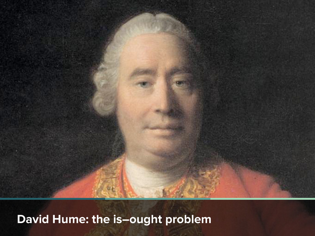 David Hume: the is–ought problem