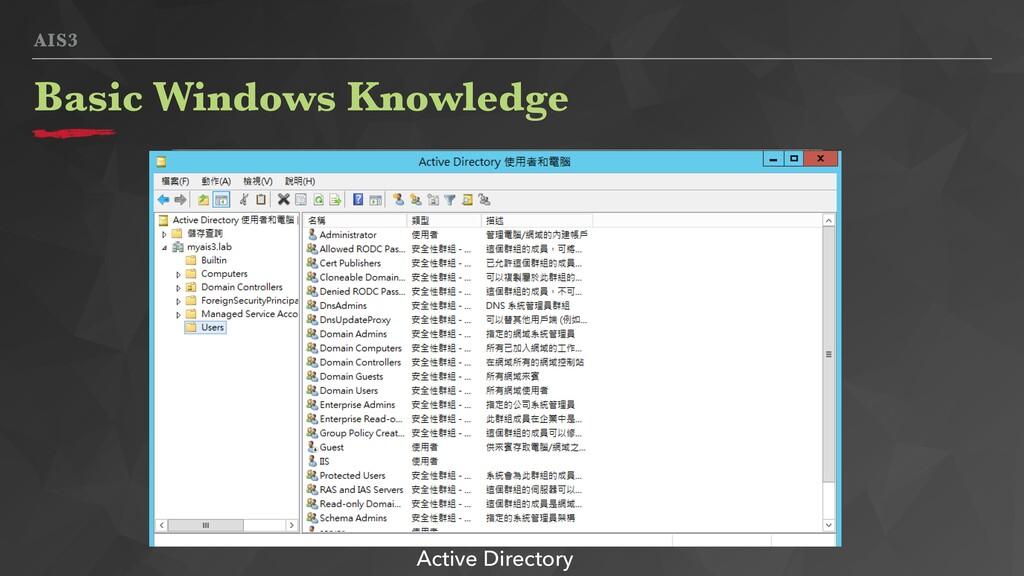 AIS3 Basic Windows Knowledge Active Directory