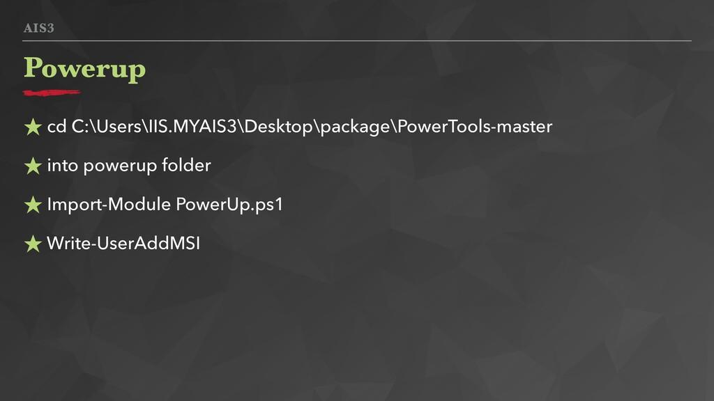 AIS3 ★ cd C:\Users\IIS.MYAIS3\Desktop\package\P...