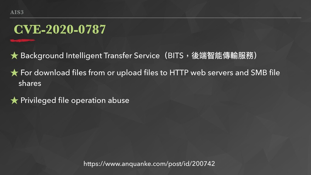 AIS3 ★ Background Intelligent Transfer Service(...