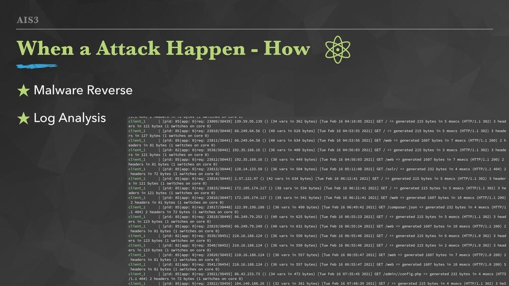 AIS3 ★ Malware Reverse ★ Log Analysis When a At...