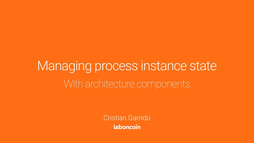 With architecture components Managing process i...