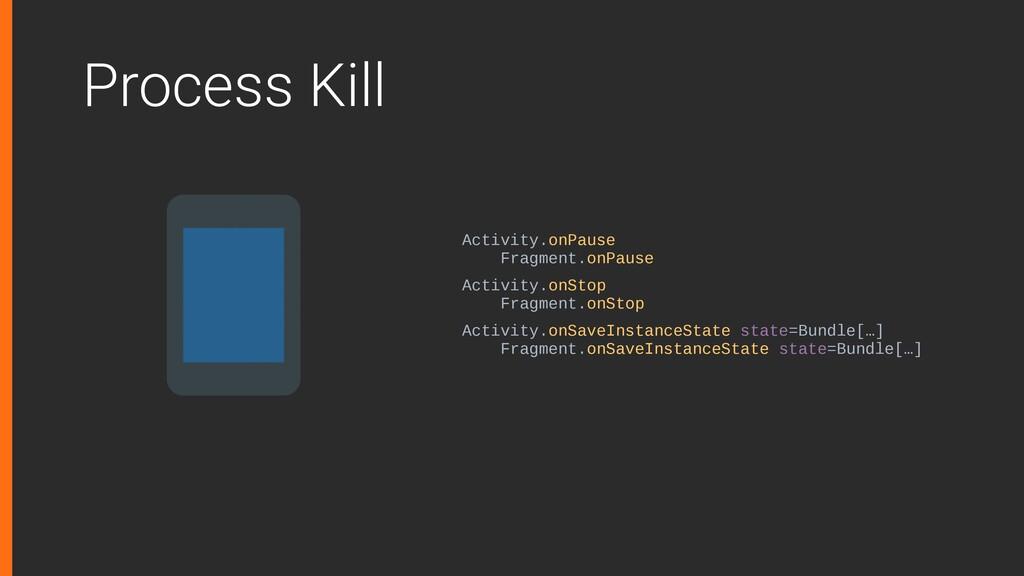 Process Kill Activity.onPause Fragment.onPause ...